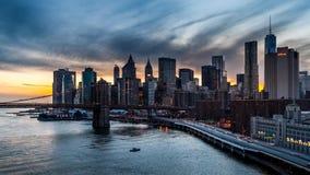 Район Нью-Йорка финансовый (timelapse) сток-видео