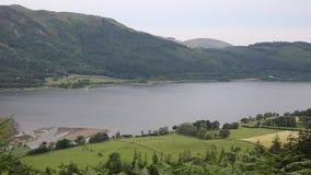 Район озера Bassenthwaite около Keswick Cumbria Англии Великобритании сток-видео