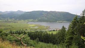 Район озера Bassenthwaite около Keswick Cumbria Англии Великобритании видеоматериал