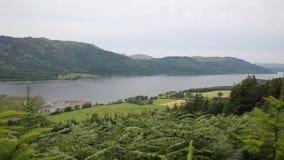 Район озера Bassenthwaite около Keswick Cumbria Англии Великобритании акции видеоматериалы