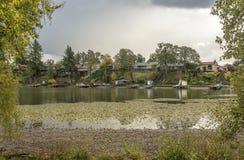 Район Орегон голубого озера жилой стоковые изображения