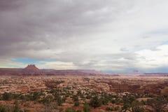 Район Парк-лабиринта Юты-Canyonlands национальный Стоковая Фотография RF