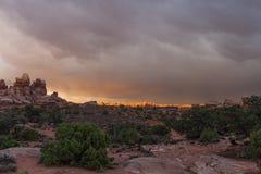 Район Парк-лабиринта Юты-Canyonlands национальный Стоковое Фото