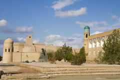 Район перед крепостью в старом городе Khiva, Узбекистана Стоковое Фото