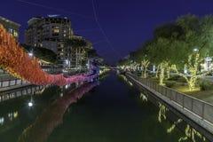Район портового района Scottsdale украшенный для рождества Стоковые Изображения RF