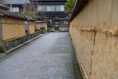 Район самураев Nagamachi в Kanazawa, Японии Стоковая Фотография
