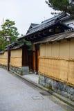 Район самураев Nagamachi в Kanazawa, Японии Стоковые Изображения RF