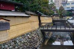 Район самураев Nagamachi в Kanazawa, Японии Стоковые Фотографии RF