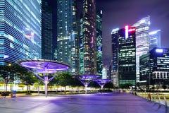 Район Сингапура финансовый стоковое фото