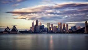 Район Сиднея финансовый на зоре Стоковое Изображение RF
