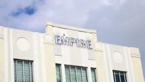 Район стиля Арт Деко Майами классический, пляж Флорида Miami Beach южный, архитектура стоковая фотография rf