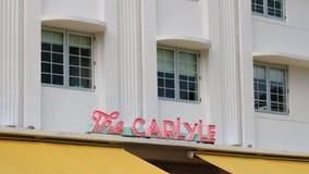 Район стиля Арт Деко Майами классический, пляж Флорида Miami Beach южный, архитектура стоковое фото