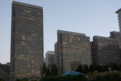 Район строительных блоков финансовый в Сан-Франциско стоковая фотография rf