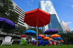 Район Хьюстона финансовый Стоковое Изображение RF