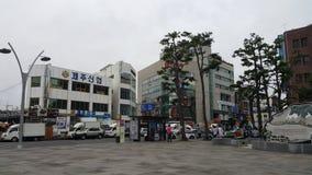 Район центра города острова Jeju стоковые фото