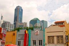 Район Чайна-тауна в Сингапуре Стоковые Изображения