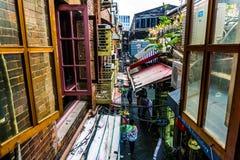 Район Шанхая Tianzifang стоковое изображение
