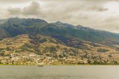 Район эквадор Imbabura озера Сан Pablo Стоковое Изображение RF