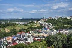 Район элиты Vozdvizhenka в Киеве, Украине Взгляд сверху на крышах зданий Стоковые Фотографии RF