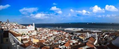 Район alfama, Лиссабона, Португалии Стоковые Изображения