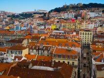 Район Baixa, Лиссабон, Португалия Стоковое Фото