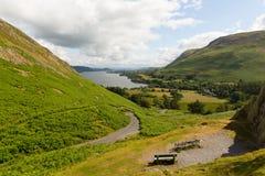 Район Cumbria Англия Великобритания озера Ullswater от Hallin упал Стоковое Фото