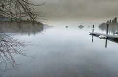 Район Cumbria озера Windermere озера английский Стоковые Изображения