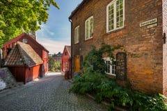 Район Damstredet художника в Осло Стоковые Фото