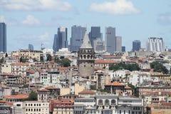 Район Galata и Karakoy в городе Стамбула Стоковая Фотография RF