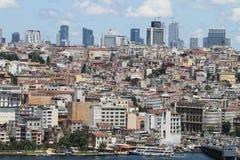 Район Galata и Karakoy в городе Стамбула Стоковое фото RF