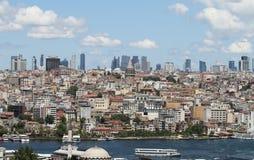 Район Galata и Karakoy в городе Стамбула Стоковое Фото