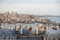 Район Galata и Karakoy в Стамбуле, Турции Стоковые Изображения RF