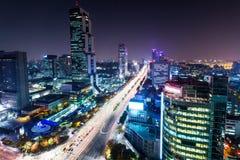 Район Gangnam в Сеуле стоковые изображения
