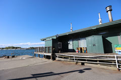 Район Hakodate Kanemori склада красного кирпича стоковые фотографии rf