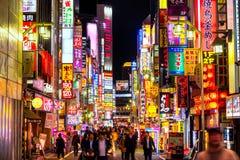 Район Kabuki-Cho, Shinjuku, токио, Япония Стоковое фото RF
