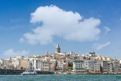 Район Karakoy, Стамбул, Турция Стоковое Изображение