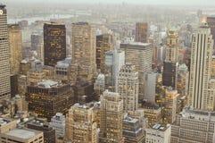 Район Manhatann, небоскребы Нью-Йорка Стоковое Изображение RF