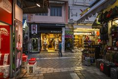 Район Monastiraki в Афинах Стоковая Фотография