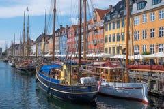 Район Nyhavn в Копенгагене Стоковые Изображения RF