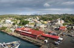 Район Portual - остров Тобаго - карибское море Стоковые Фото