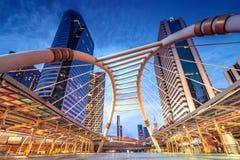 Район Sathon в центральном Бангкоке Стоковые Фото