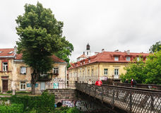 Район Uzupis - Вильнюса Литва Стоковая Фотография