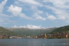 Рай города озера стоковое фото rf