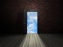 рай двери к иллюстрация вектора