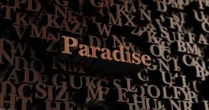 Рай - деревянное 3D представило письма/сообщение иллюстрация штока