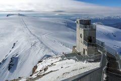 Рай ледника Маттерхорна около пика Маттерхорна, Альпов, Швейцарии Стоковая Фотография