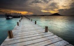 Рай захода солнца Стоковое фото RF
