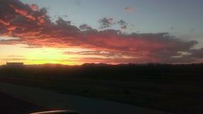 Рай захода солнца Стоковые Фото