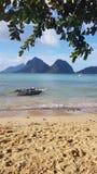 Рай здесь: Пляж Cabanas Las стоковая фотография rf