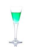 рай зеленого цвета стекла коктеила Стоковые Фотографии RF
